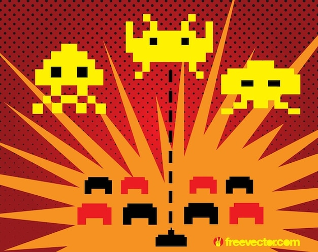 Space Invaders Vector Free Vector