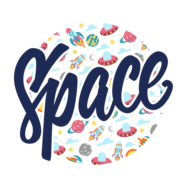 Image result for space lettering