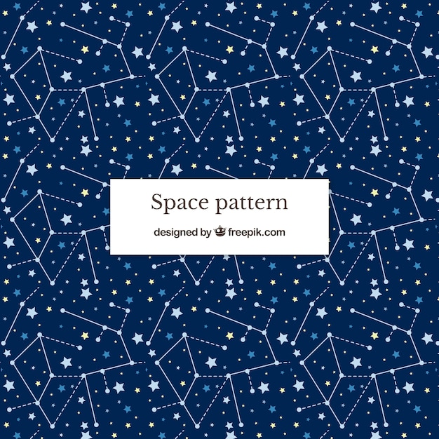 Space pattenr background Free Vector