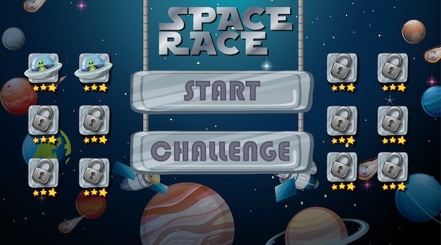 Space race game background Free Vector