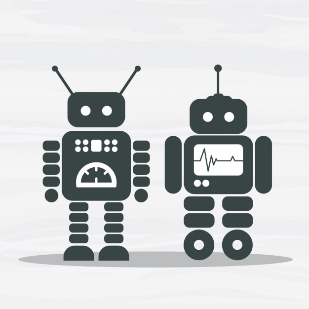 Space robots Free Vector