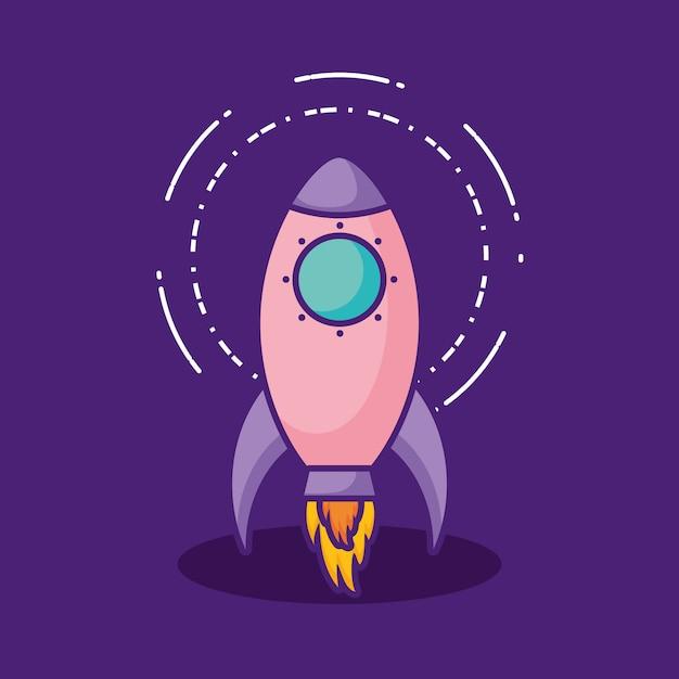 Space rocket icon Premium Vector