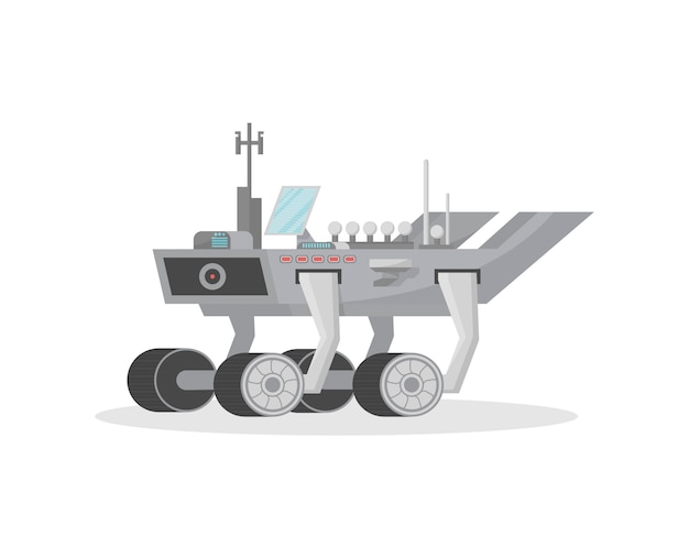 Space rover isolated  icon Premium Vector
