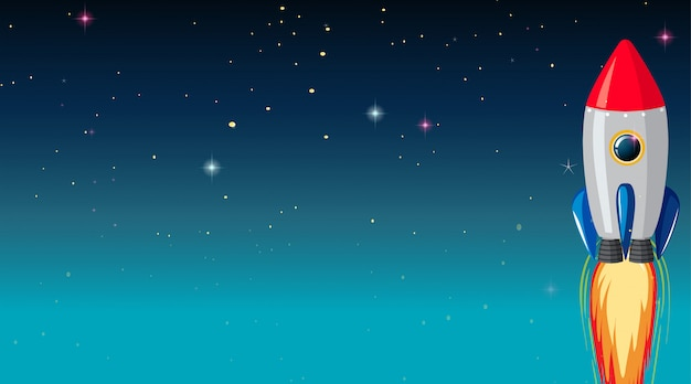 Space ship galaxy background Free Vector