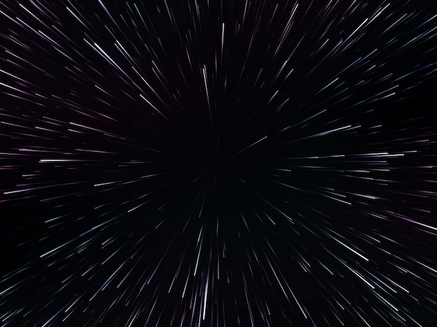 Space speed. abstract starburst dynamic lines or rays,  illustration Premium Vector