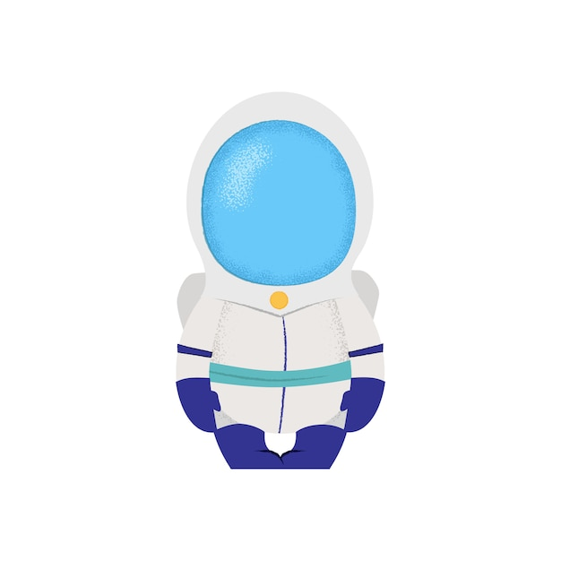 Spaceman sitting in chair. astronaut, captain, fiction. Free Vector