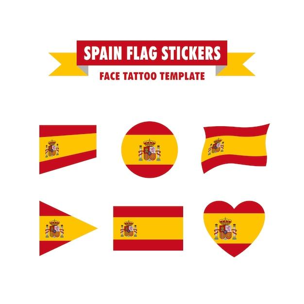 Spain flag template Premium Vector