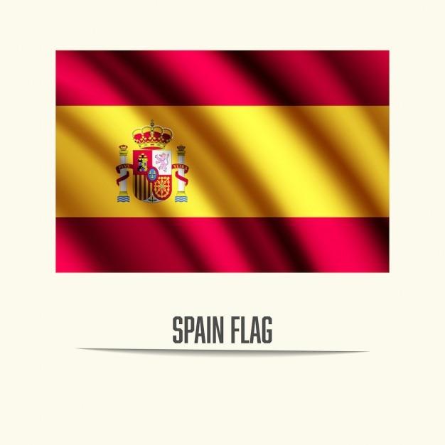 Spagna bandiera Vettore gratuito