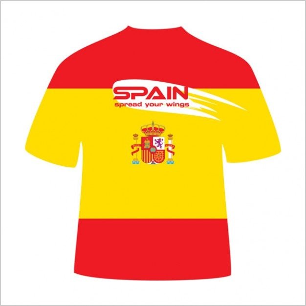 Spain t shirt design vector vector free download for T shirt design vector free download