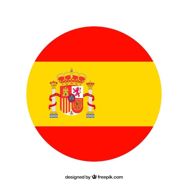 Spanish flag background Free Vector