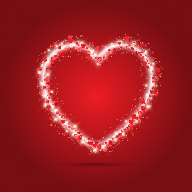 sparkle heart red background vector | free download, Ideas
