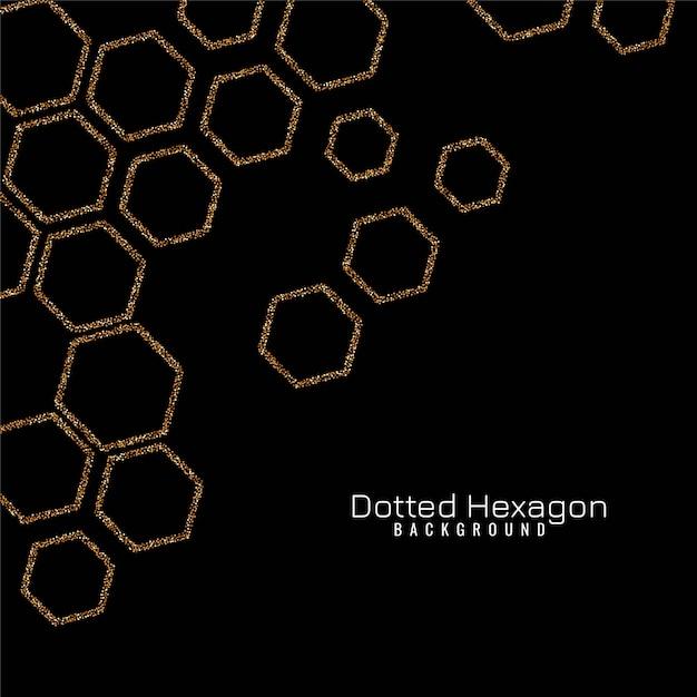 Sparkle hexagon modern vector Free Vector
