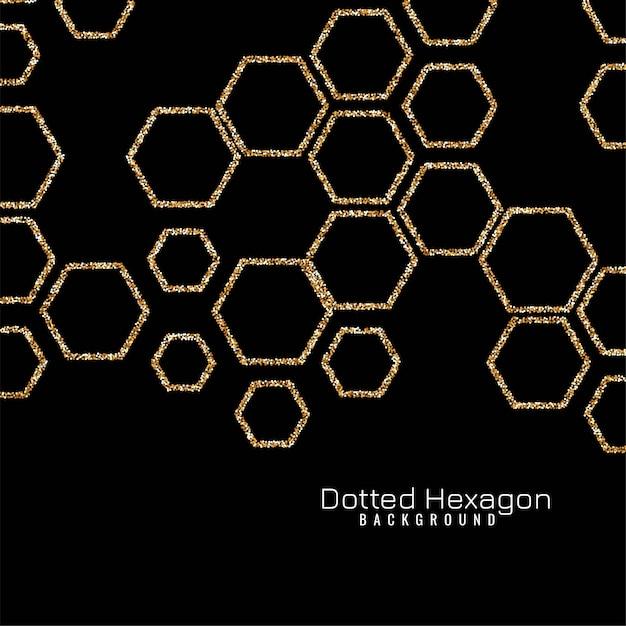 Sparkle hexagon modern Free Vector