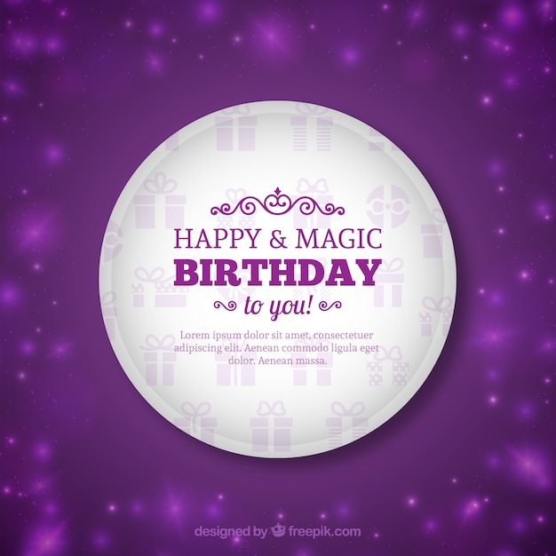 Sparkling Birthday Card Vector Free Download