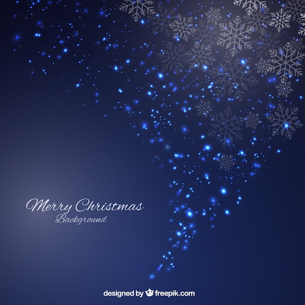 sparkling blue christmas background in abstract style free vector - Blue Christmas Background