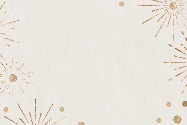 Fuochi d'artificio scintillanti sfondo beige celebrazione del nuovo anno Vettore gratuito
