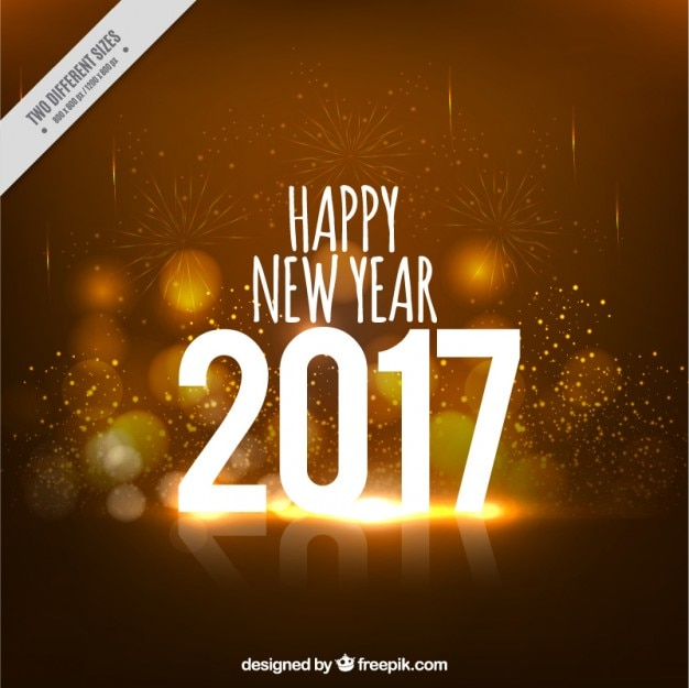 Sparkling Gold New Year Background Premium Vector