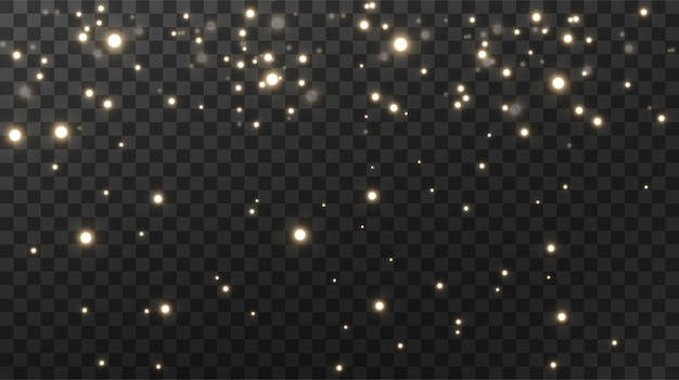 Sparkling magical dust textural black background. Premium Vector