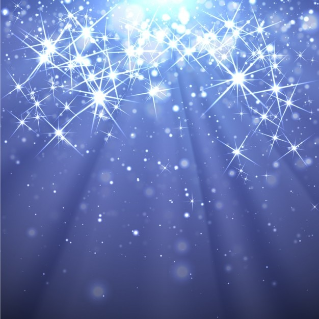 sparkling stars on a blue background vector free download