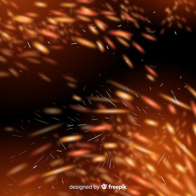 Sparkly fire effect with transparent background Free Vector