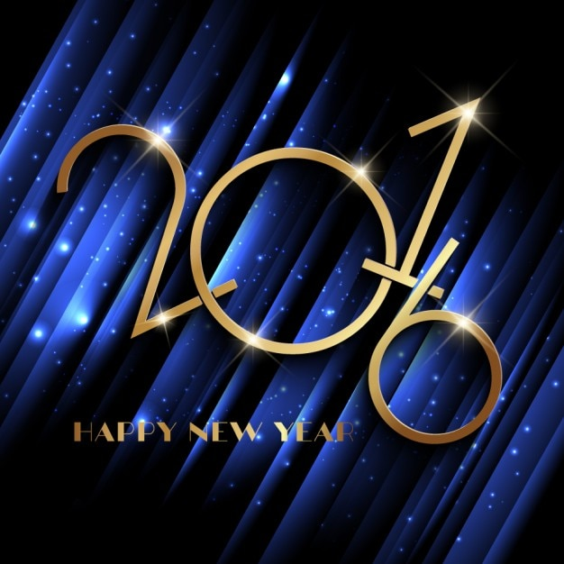 sparkly new year blue background free vector