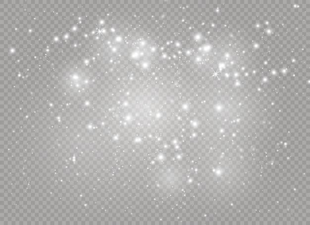 火花と星が輝く特別な光の効果。 Premiumベクター