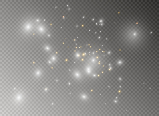 Sparks and stars glitter special light effect. Premium Vector