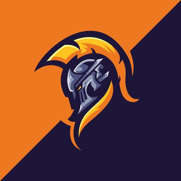 Спартанские логотипы Premium векторы