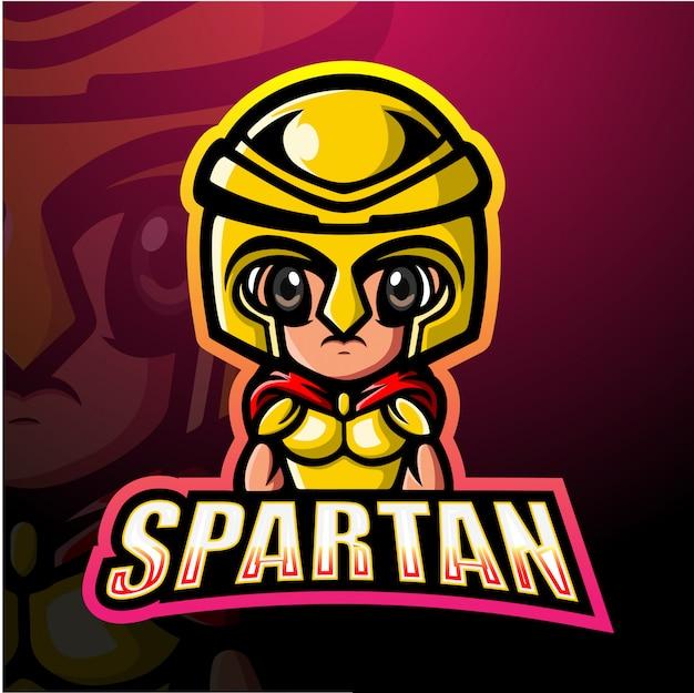 スパルタ戦士マスコットeスポーツイラスト Premiumベクター