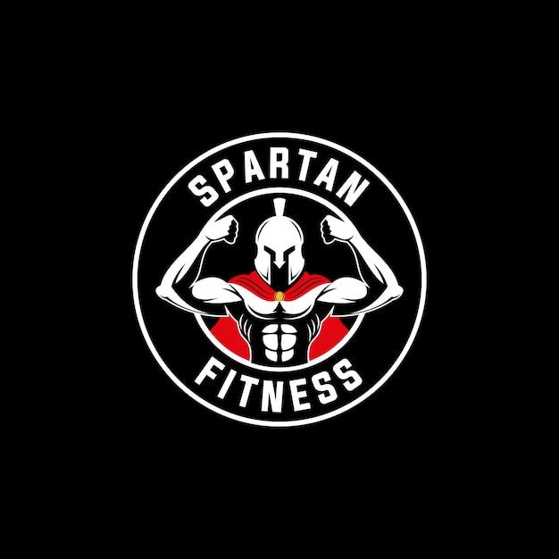 スパルタ戦士スポーツフィットネスロゴエンブレム Premiumベクター