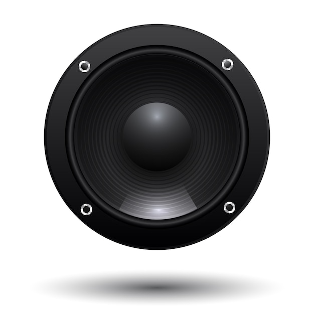 speaker isolated on white background vector free download