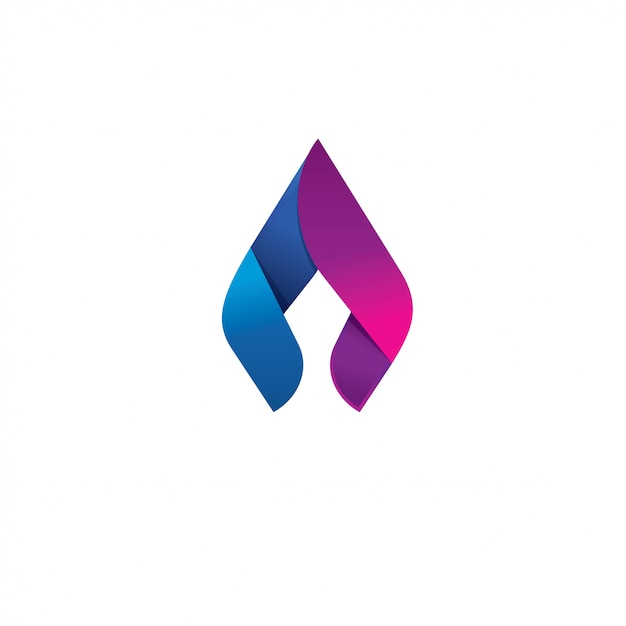 Spear flame vector logo design concept Premium Vector