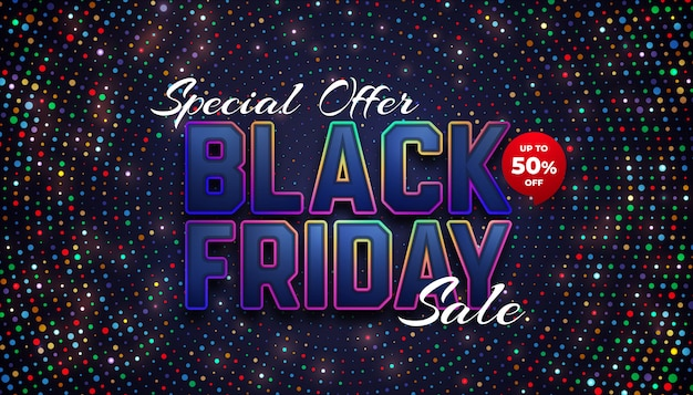 Special black friday sale up to 50% off Premium Vector
