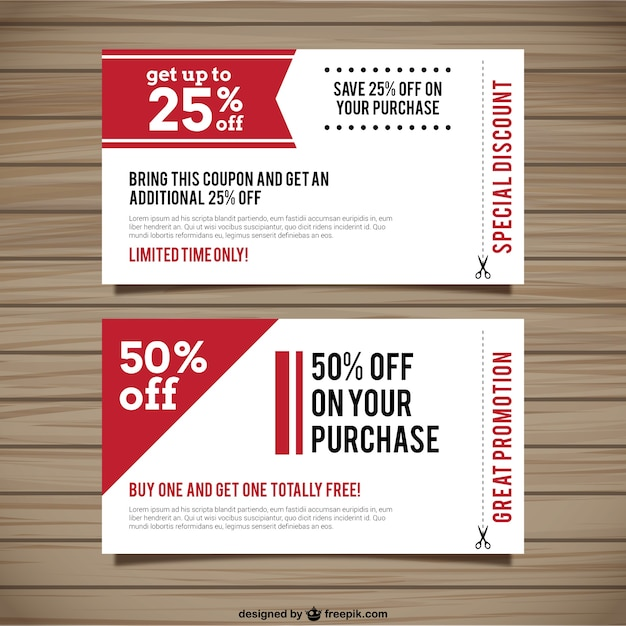 Coupon vectors photos and psd files free download for Free meal coupon template