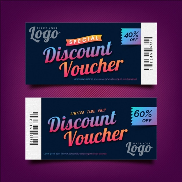 Voucher coupon template vector / Deals job career