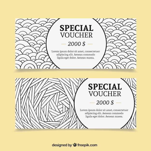 Special dollar voucher pack Free Vector