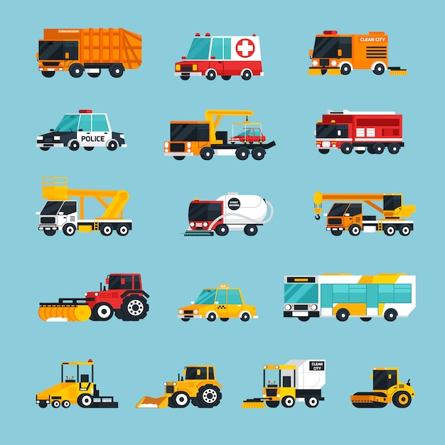 Special and emergency transport infographics Free Vector