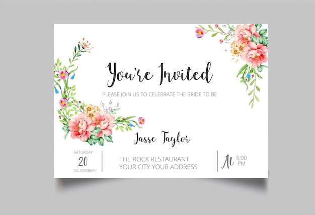 Special event invitation  card Premium Vector