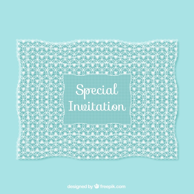 Special invitation in lacy style vector free download special invitation in lacy style free vector stopboris Choice Image