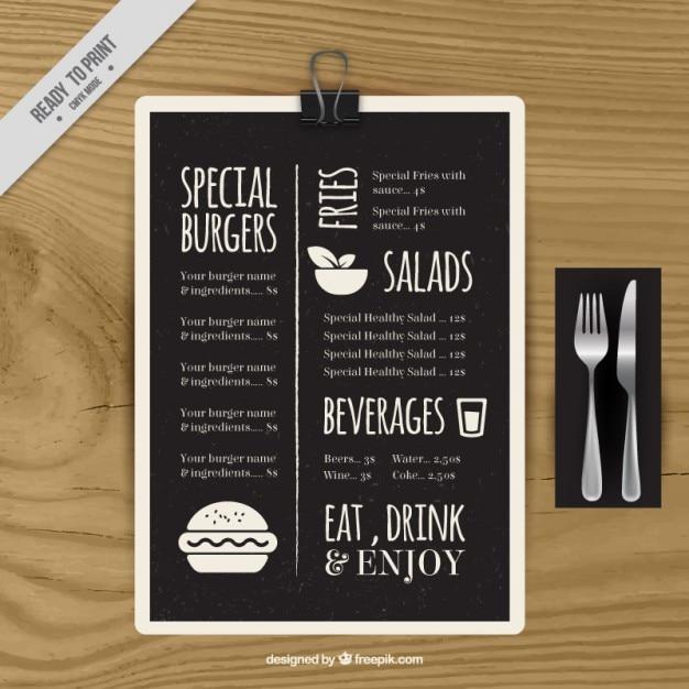 special menu template in blackboard vector free download. Black Bedroom Furniture Sets. Home Design Ideas