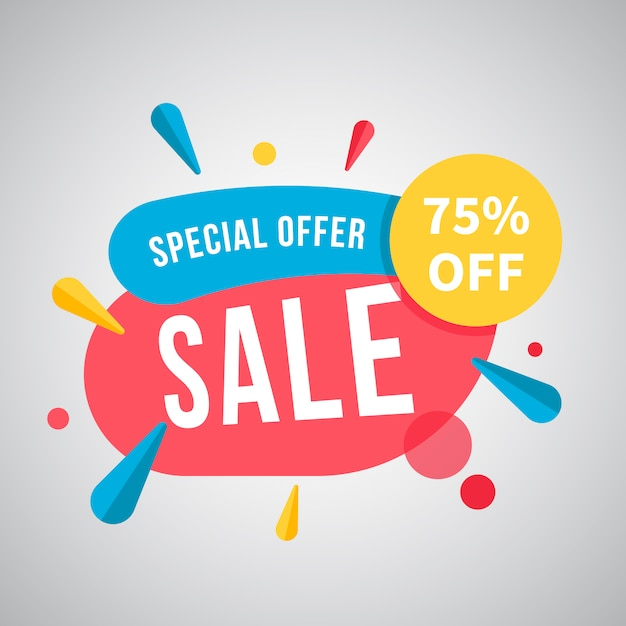 Special offer background Free Vector