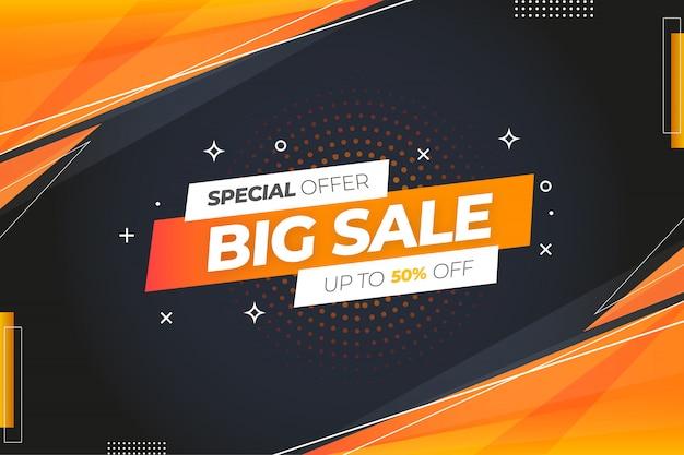 특별 제공 큰 판매 배경 무료 벡터
