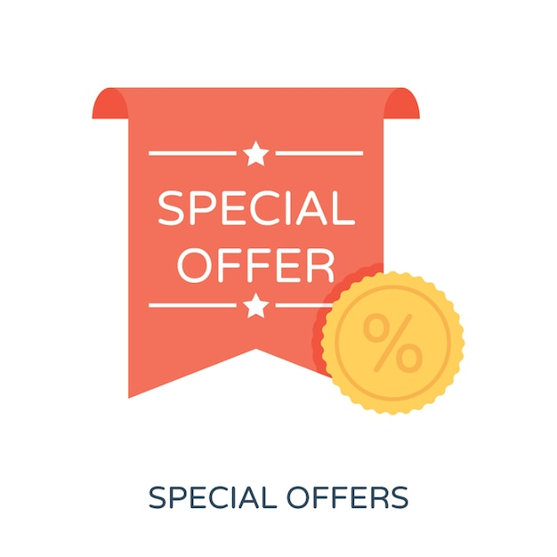 Premium Vector Special Offer Flat Vector Icon