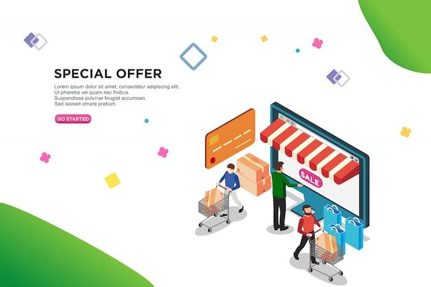 Special offer isometric design Premium Vector