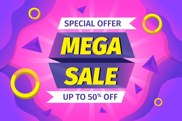 Special offer mega sale background Free Vector