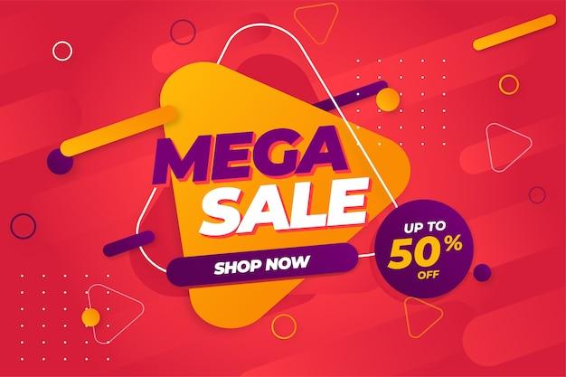 Special offer mega sale banner background template Premium Vector