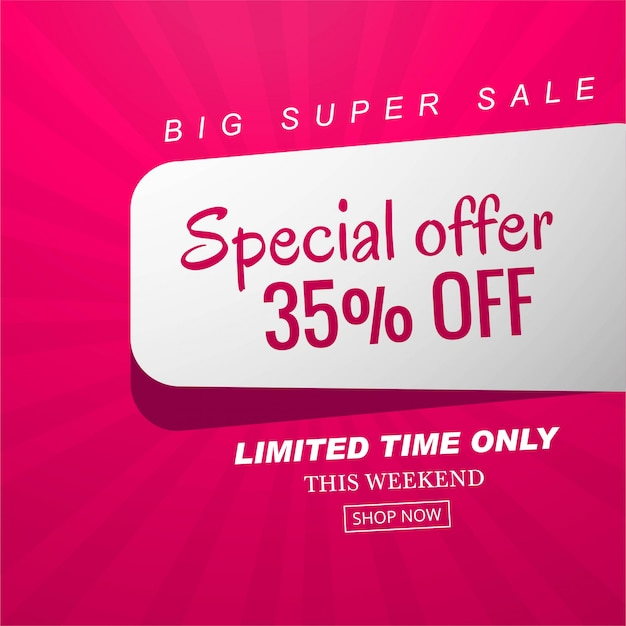 Special offer sale banner background vector Free Vector