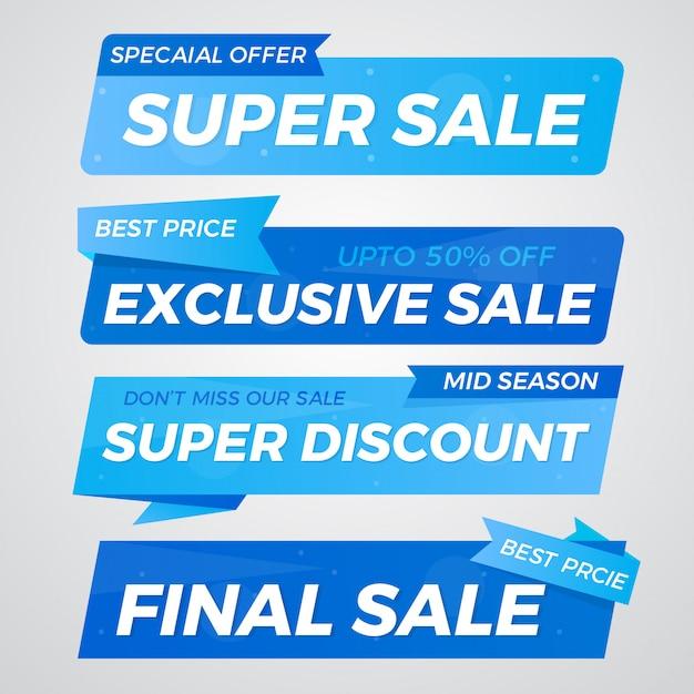 Special offer sale banner design set Premium Vector