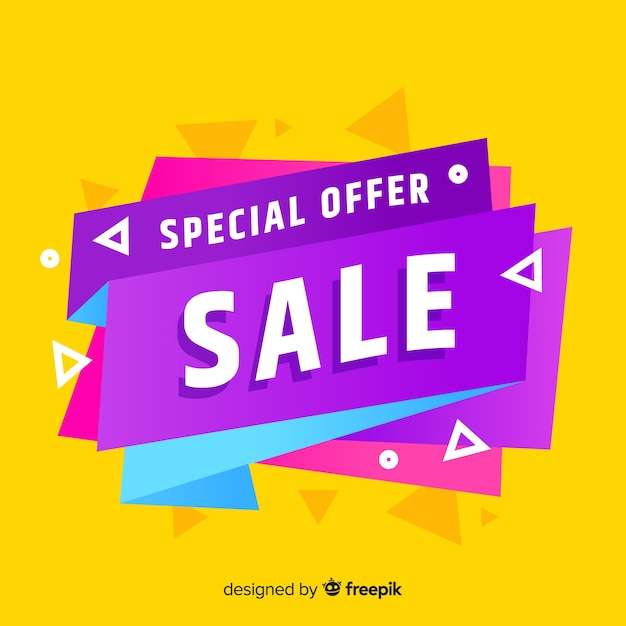 Special offer sale banner design Free Vector
