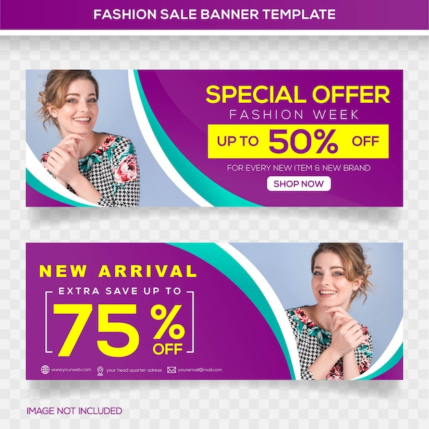 Special offer sale banner template design Premium Vector